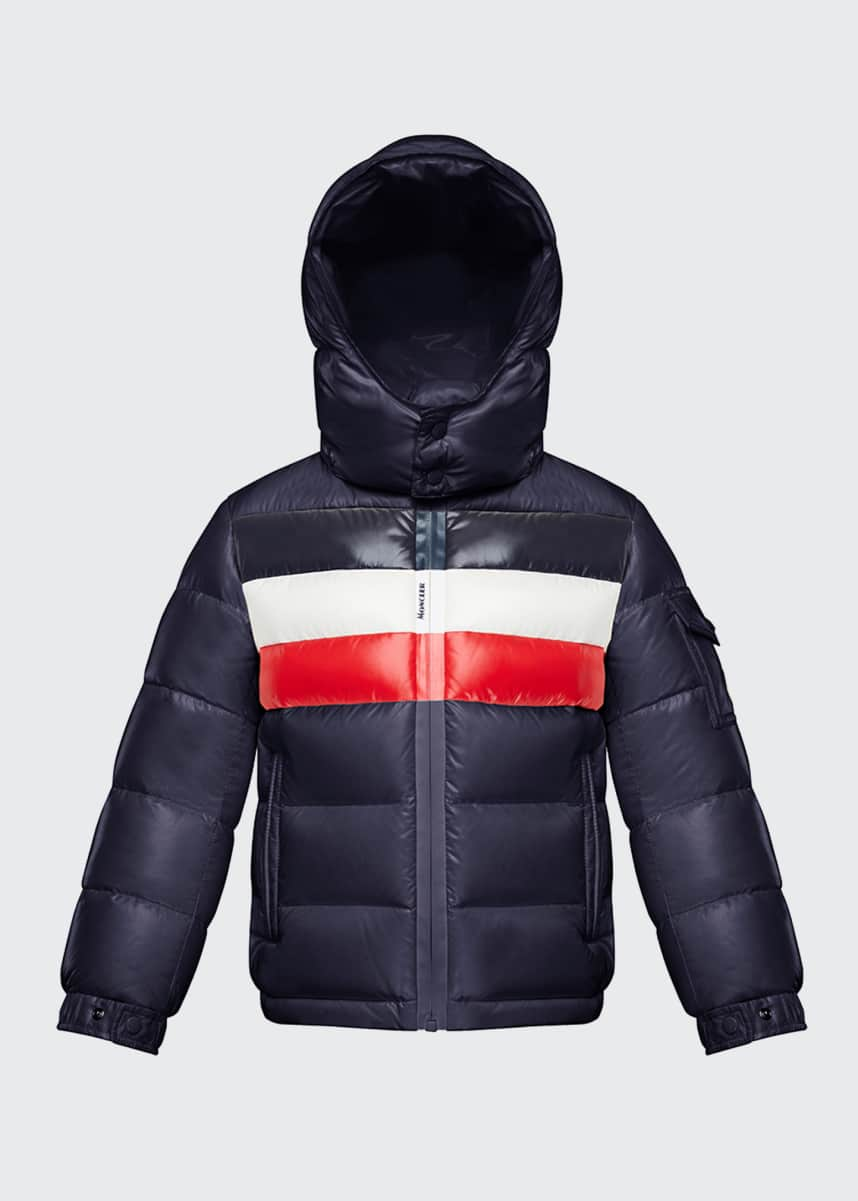 Moncler Dell Hooded Puffer Jacket, Size 4-6