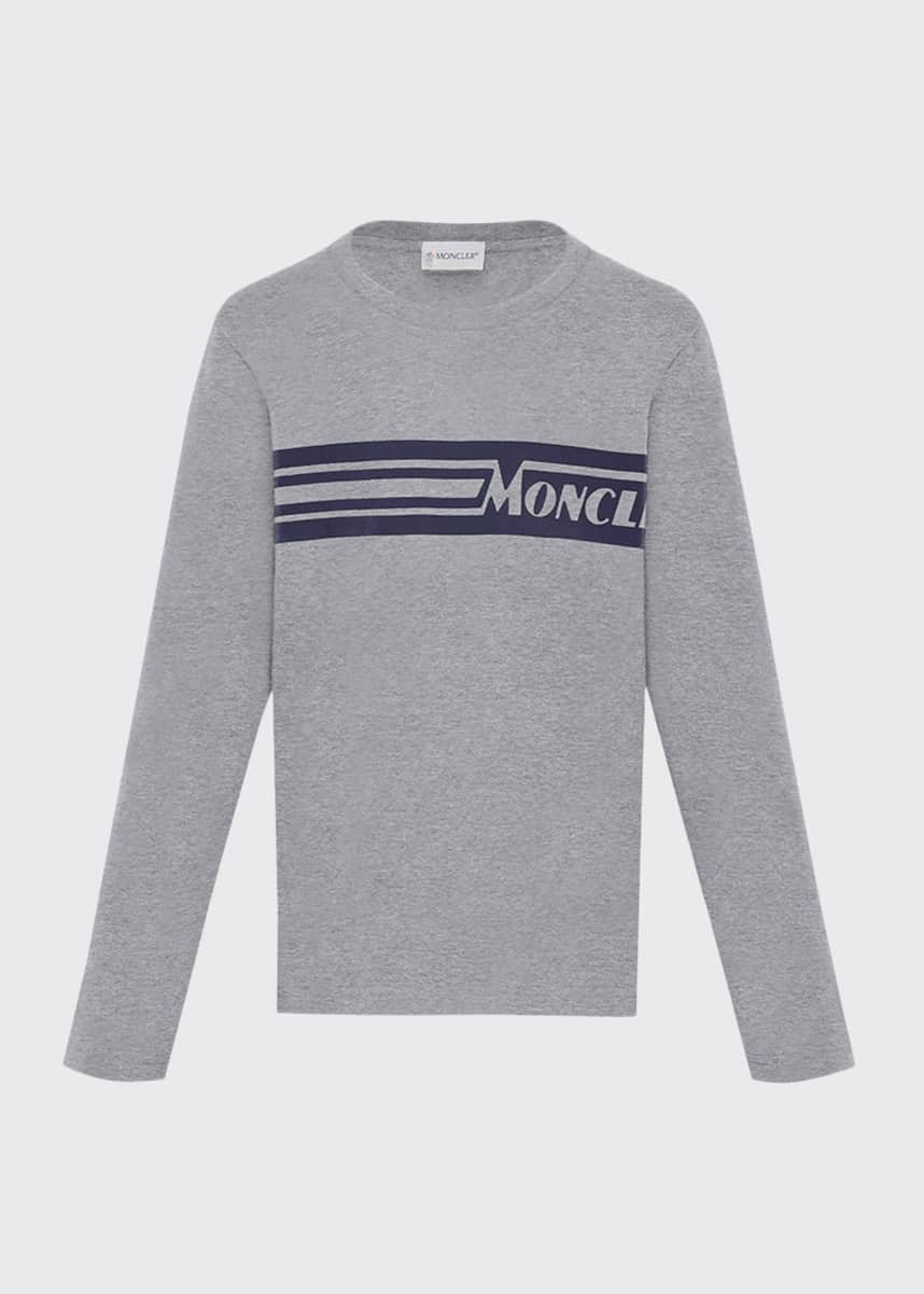Moncler Girl's Colorblock Long-Sleeve T-Shirt, Size 4-6