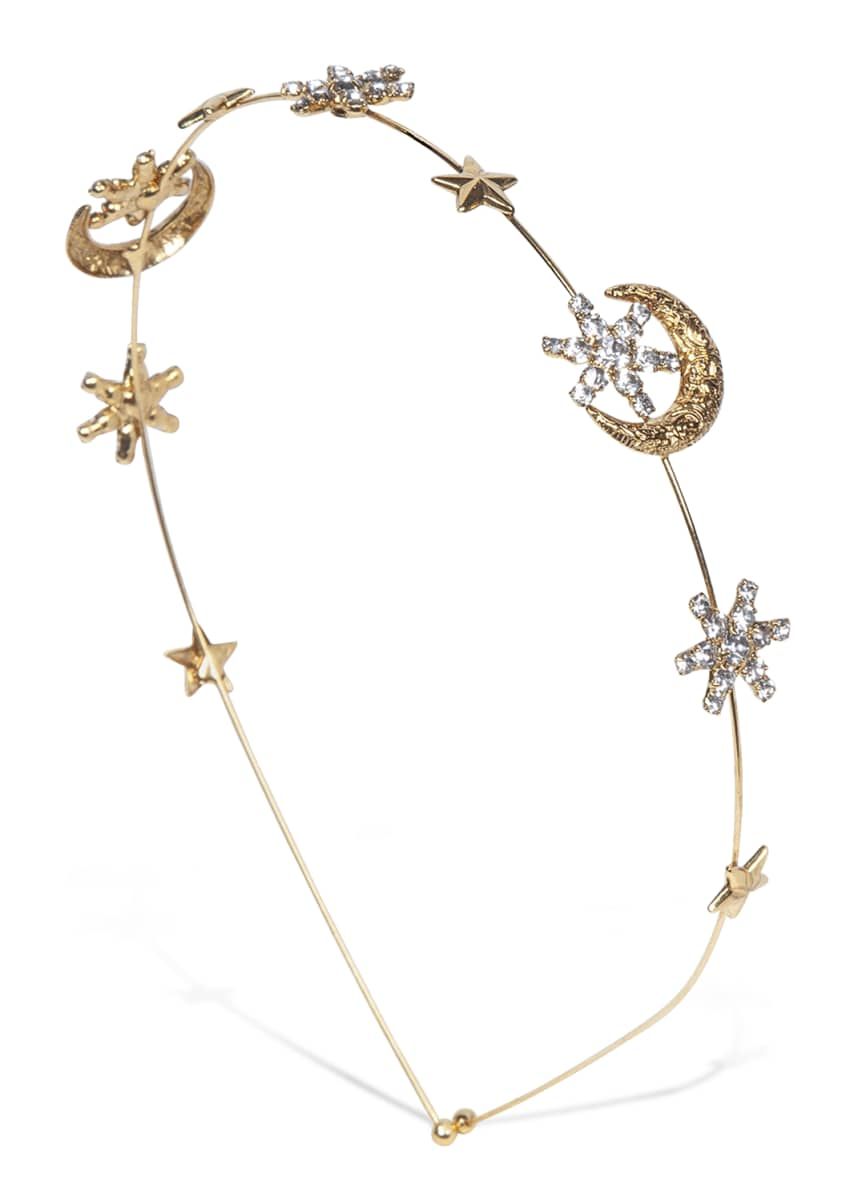 Jennifer Behr Luna Moon & Stars Crystal Headband