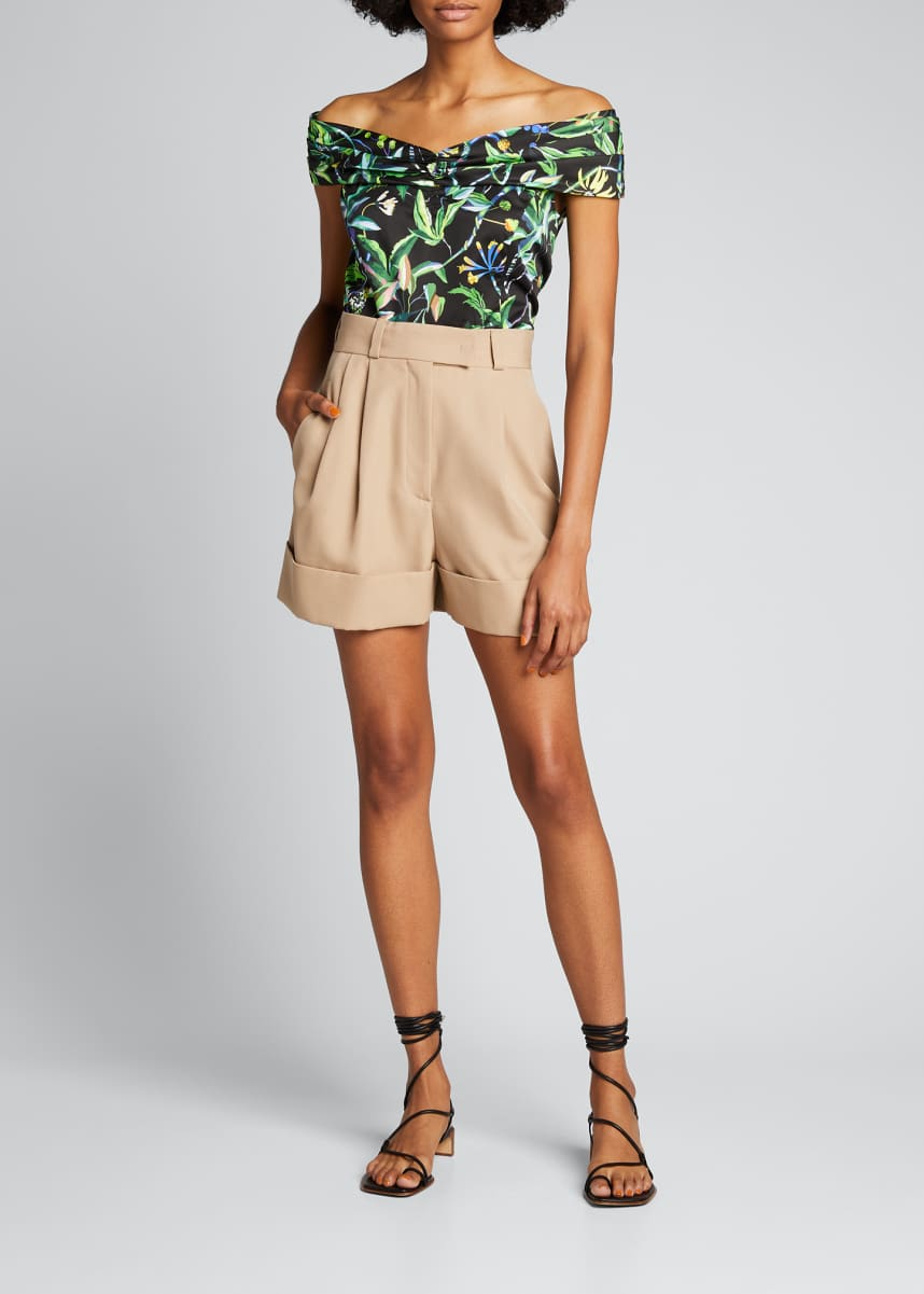 Jason Wu Collection Tropical-Print Off-the-Shoulder Top