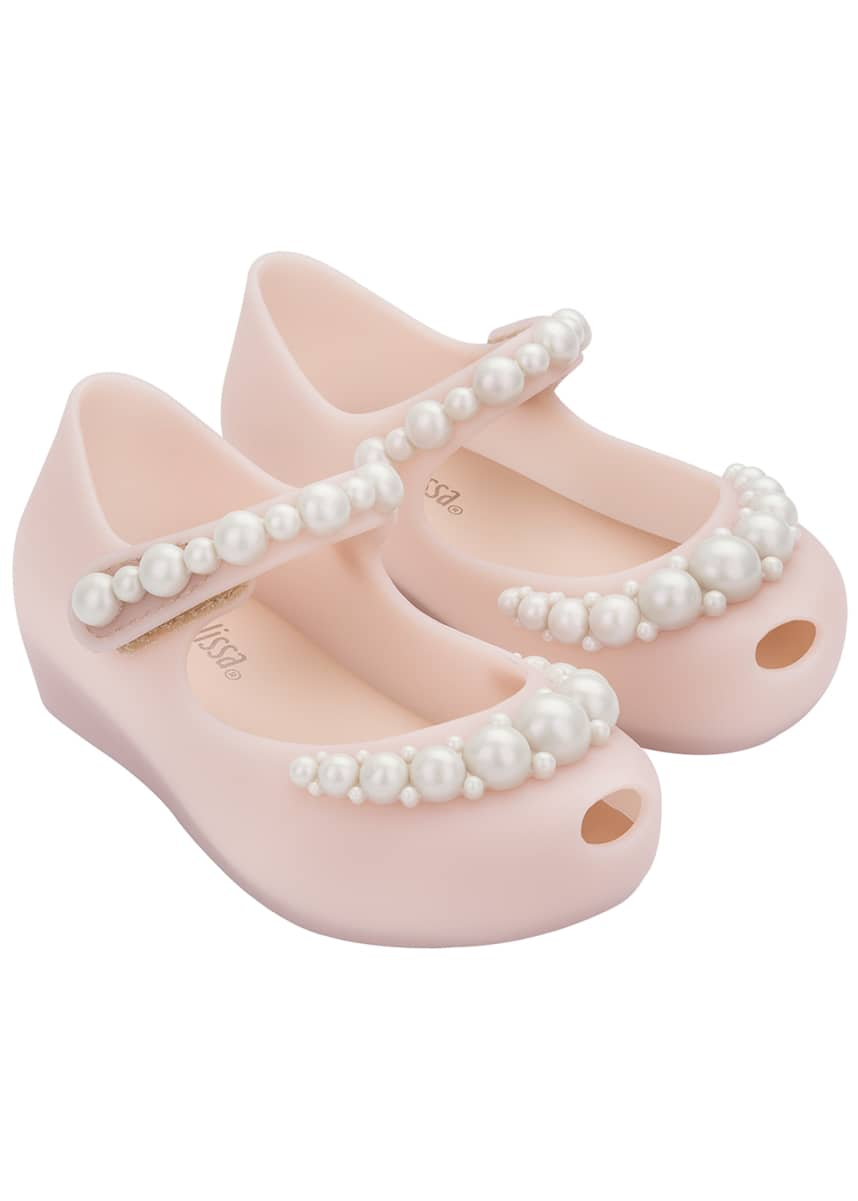Mini Melissa Ultragirl Girly Pearl Mary Janes, Baby/Toddler