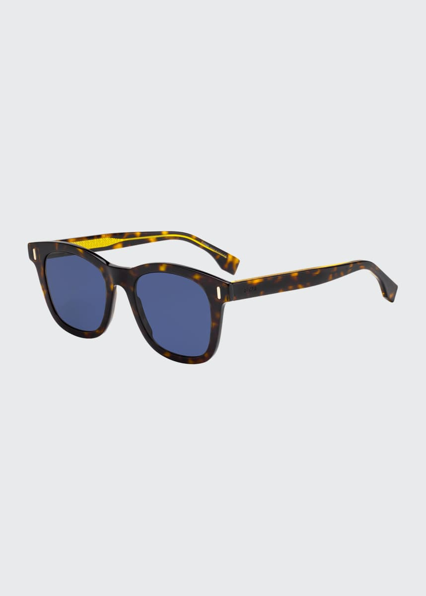 Fendi Men's Square Acetate Sunglasses