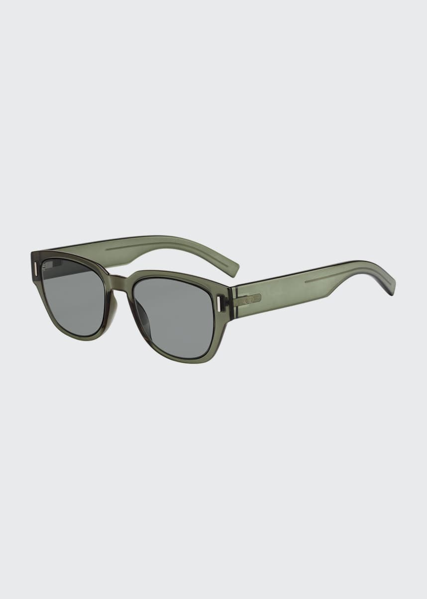 Dior Men's Fraction 3 Rectangular Nylon Sunglasses
