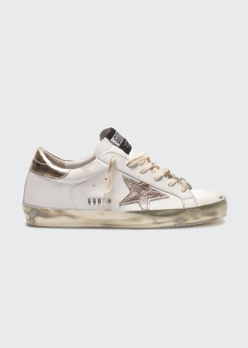 Golden Goose Superstar Metallic-Sole Skater Sneakers