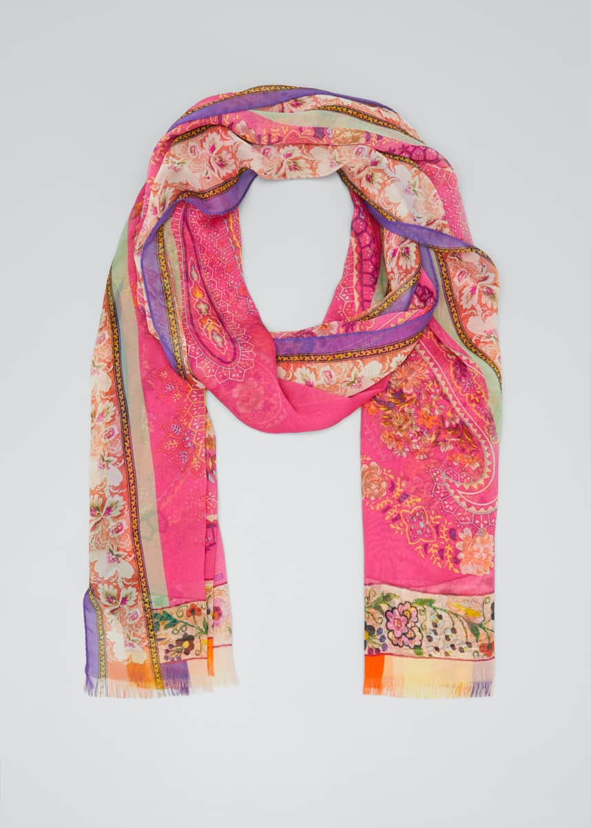 Etro Large Scale Paisley Silk Scarf