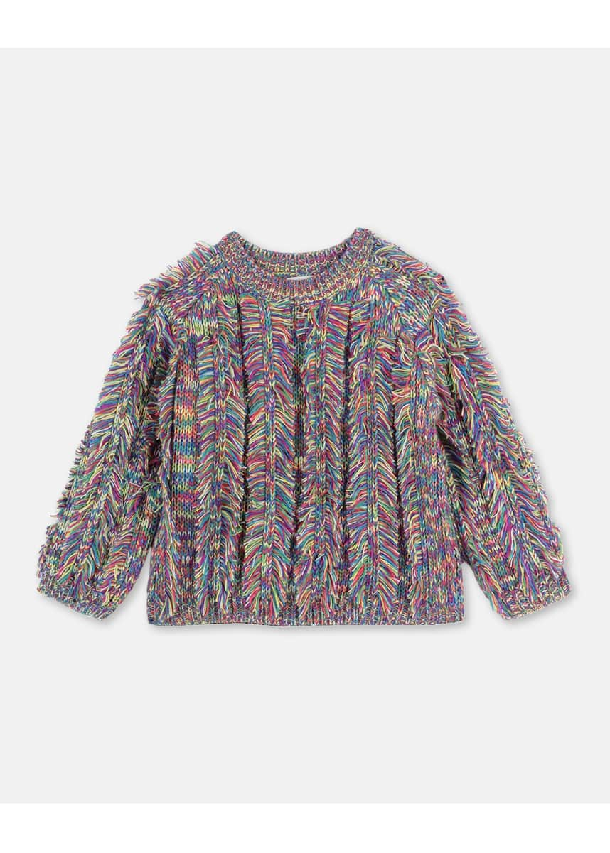 Stella McCartney Kids Girl's Space-Dye Knit Sweater, Size 4-14