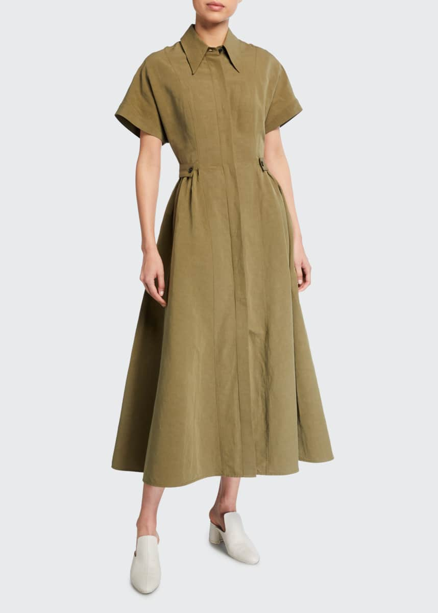 Co Ankle-Length Short-Sleeve Shirtdress