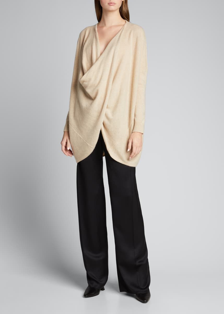 Co Wrap-Front Cashmere Knit Sweater