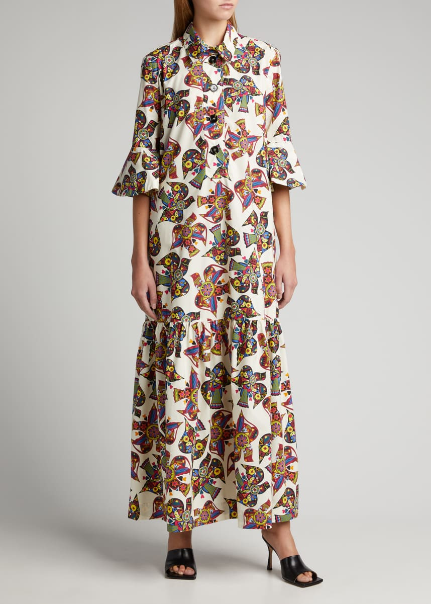 Double J Artemis Printed Poplin Maxi Dress