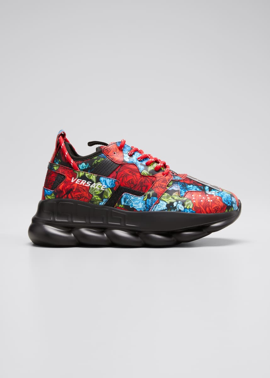 Versace Men's Exclusive Floral Chain Reaction Sneakers
