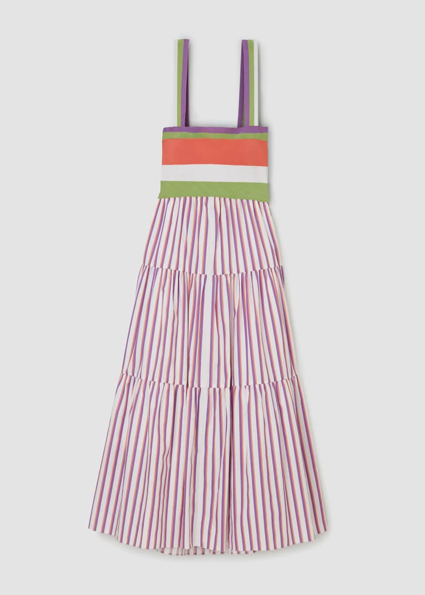 Tanya Taylor Claudia Striped Maxi Dress