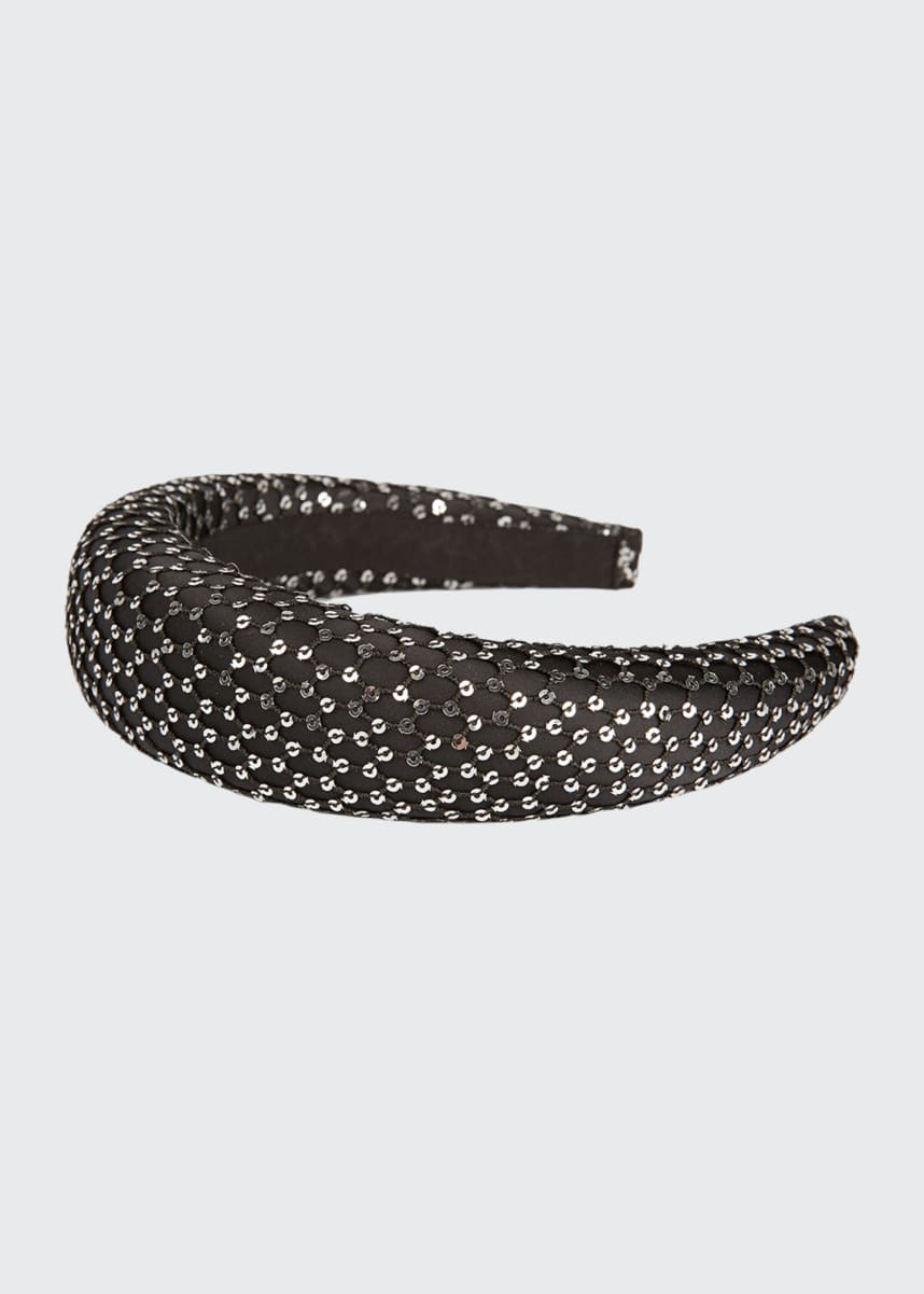 Maison Michel Miwa 3D Sequined Mesh Headband