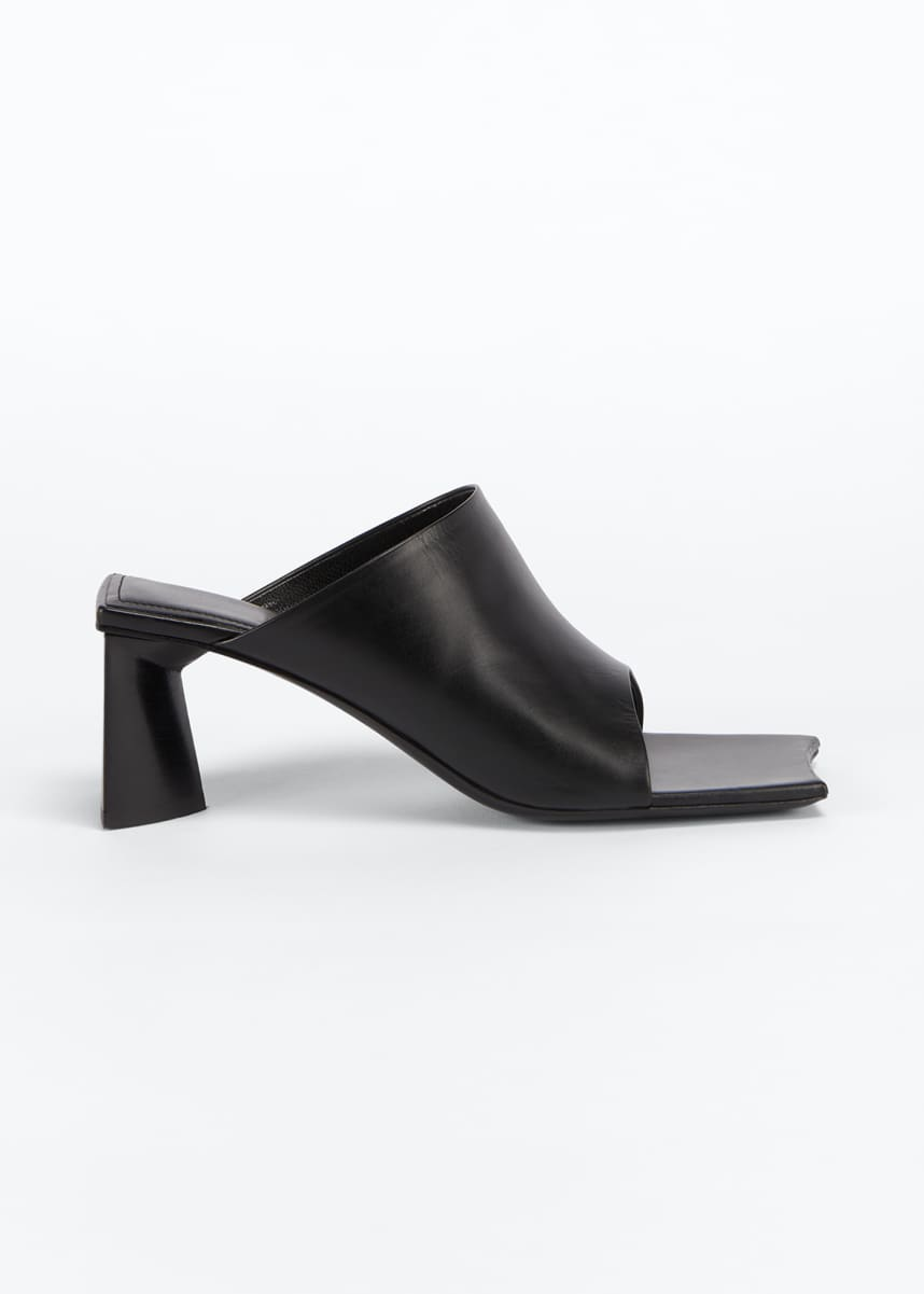 Balenciaga 60mm Moon Square-Toe Slide Sandals