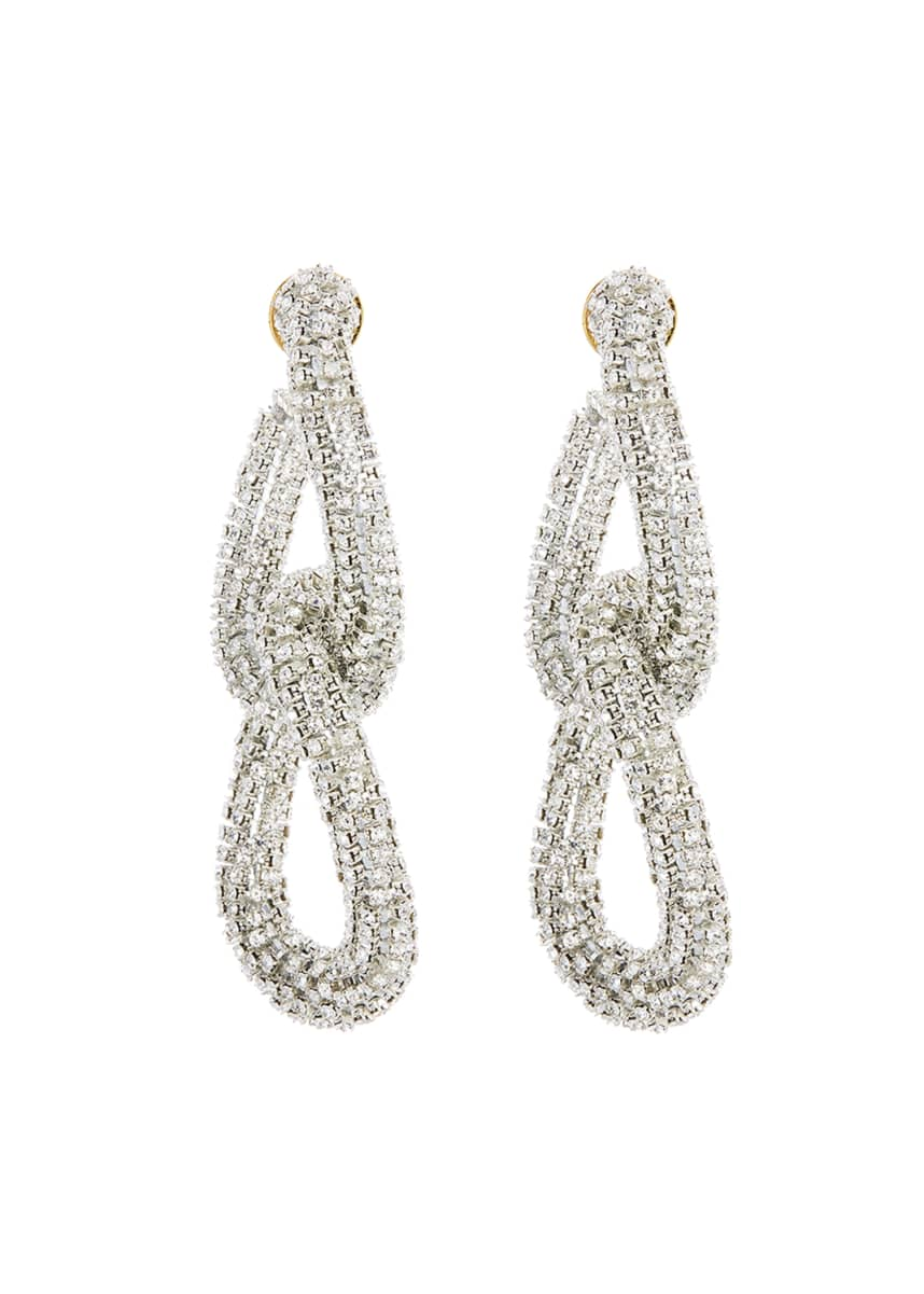 Oscar de la Renta Embellished Crystal Link Earrings