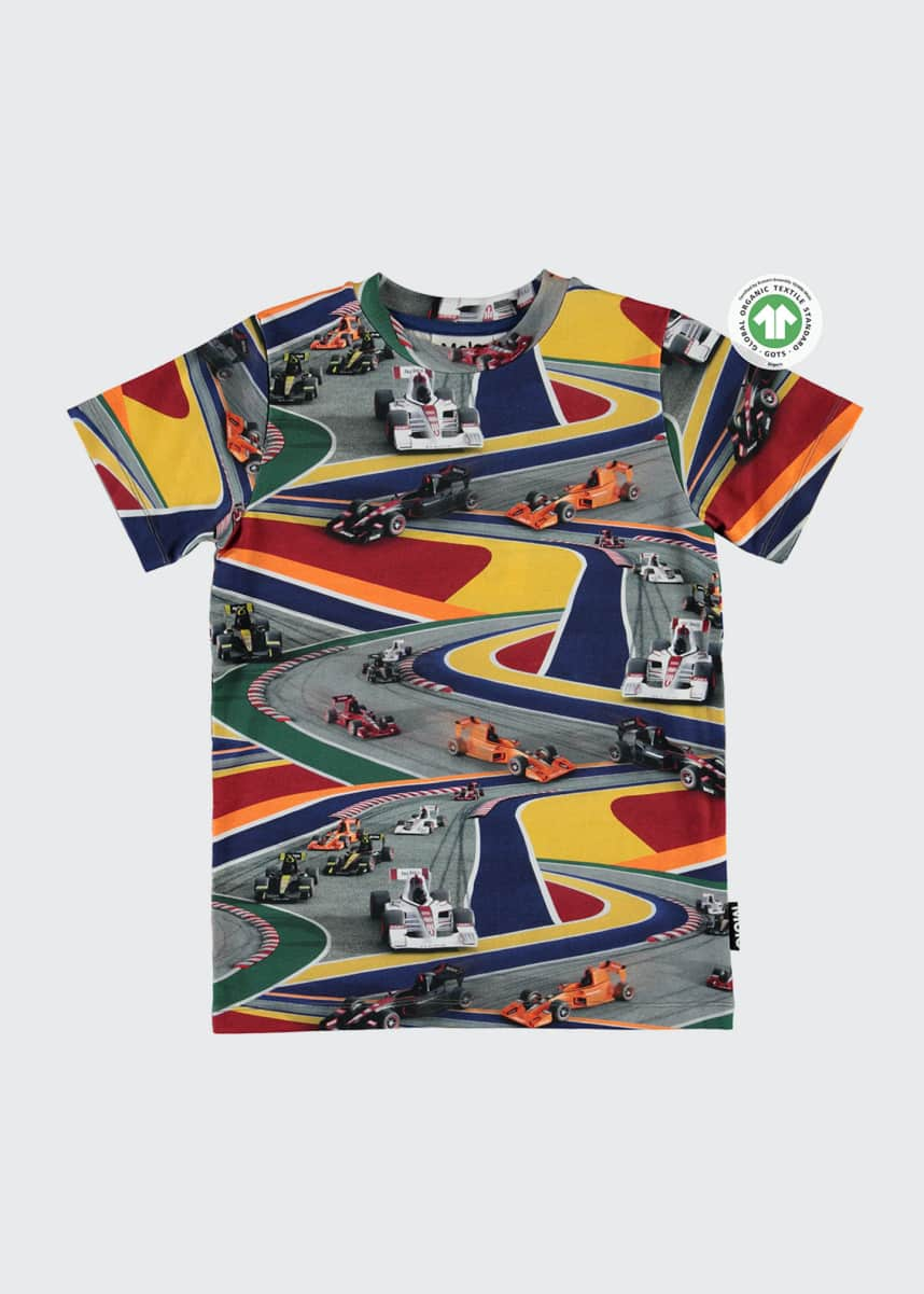 Molo Boy's Ralphie Full Speed Printed T-Shirt, Size 4-10