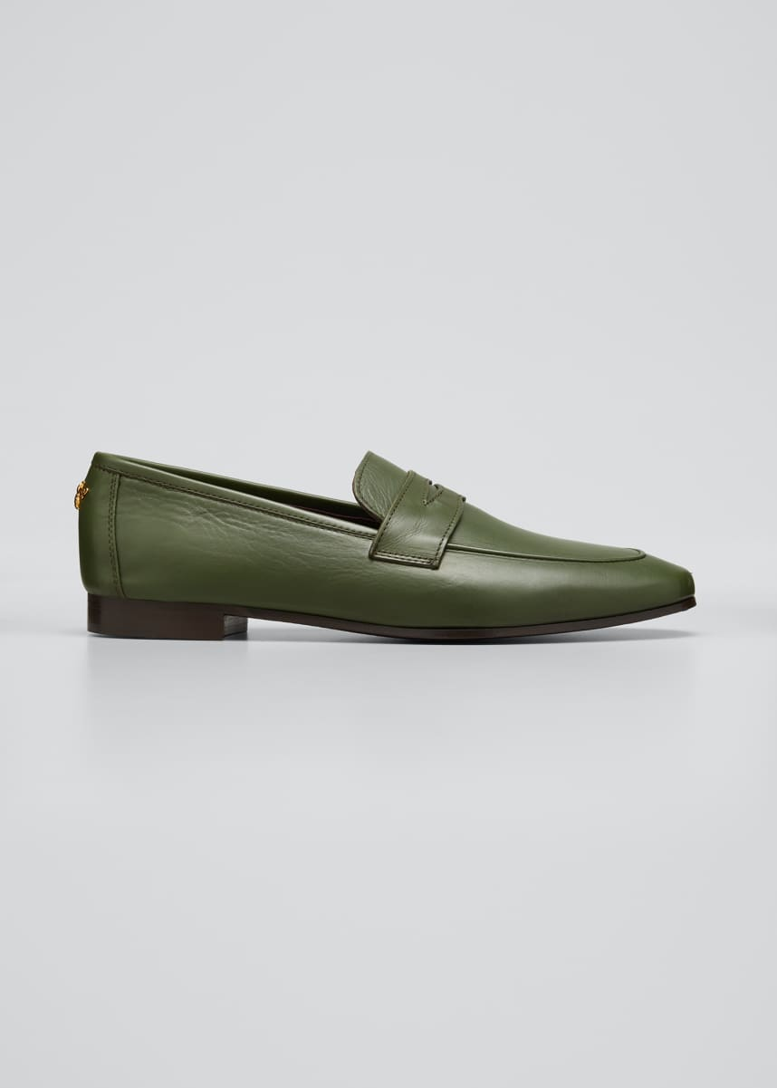 Bougeotte Classic Leather Penny Loafers