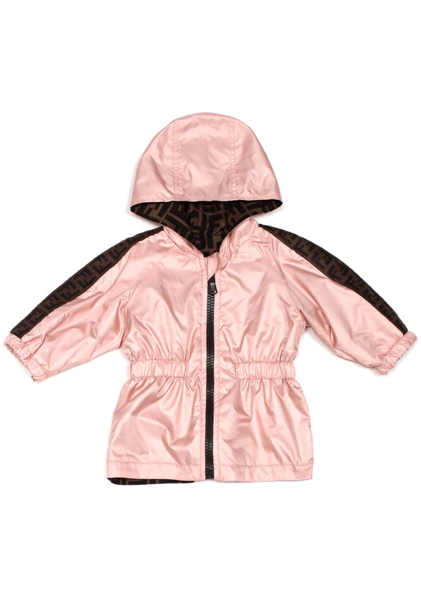 Fendi Light Reversible Hooded FF Jacket, Size 12-24 Months