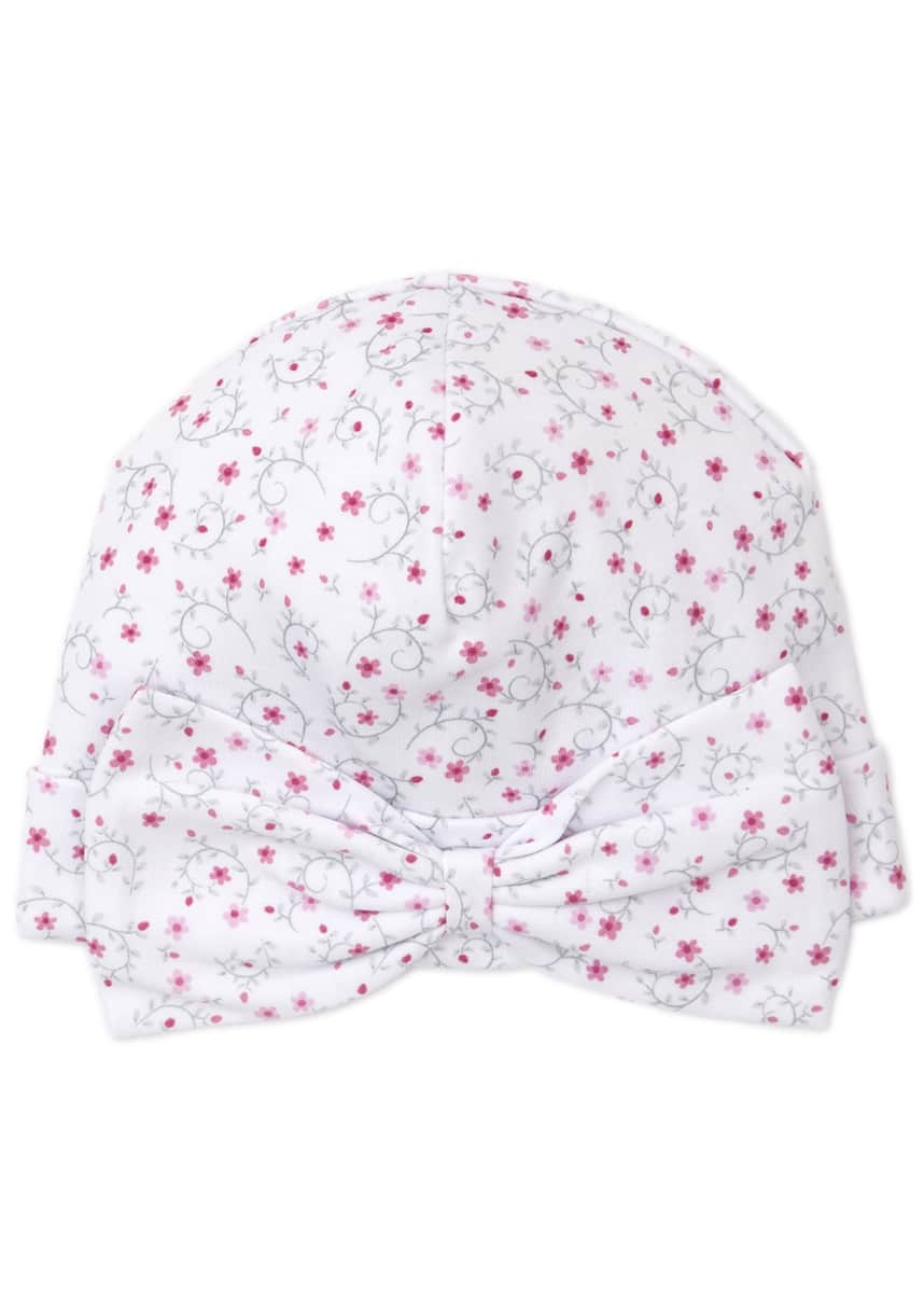 Kissy Kissy Silver Stems Floral Print Baby Hat