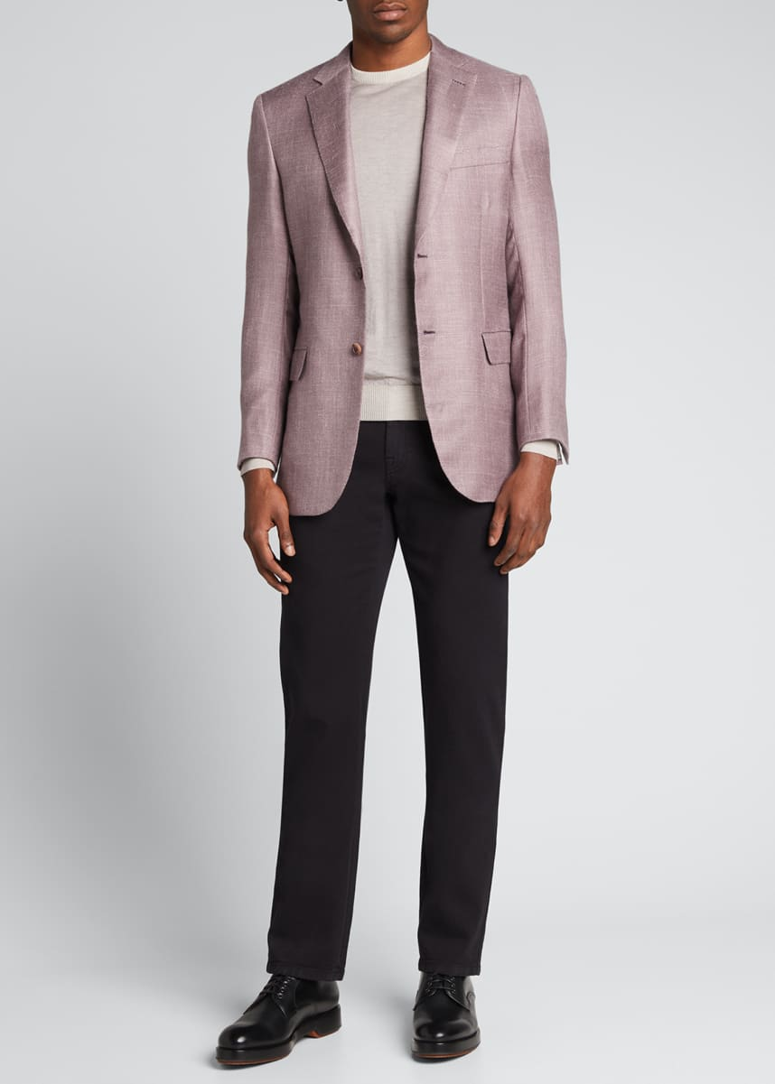 Brioni Men's Straight Twill Pants