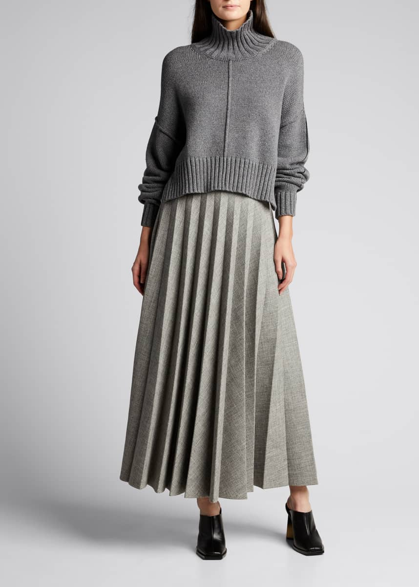 Peter Do Pleated Maxi Skirt
