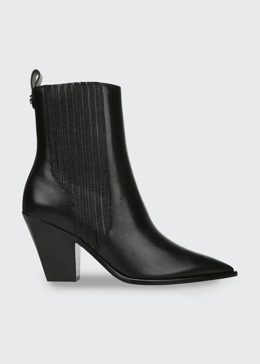Veronica Beard Sanai 75mm Leather Ankle Booties