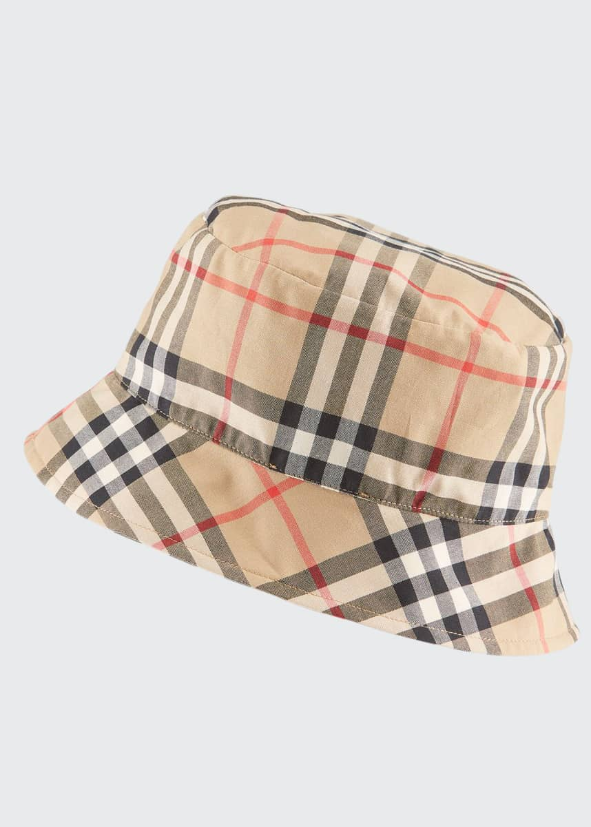 Burberry Vintage Check Bucket Baby Hat, Size 1-18 Months