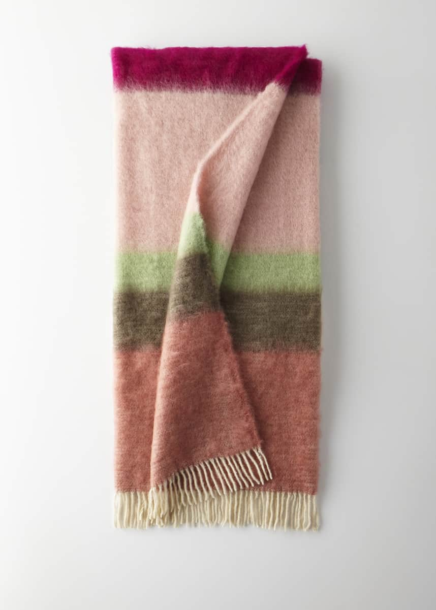 Mantas Ezcaray Matisse Mohair Throw, Pink Pattern