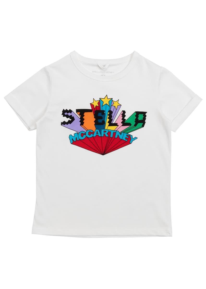 Stella McCartney Kids Girl's Short-Sleeve Logo Graphic Tee, Size 4-14