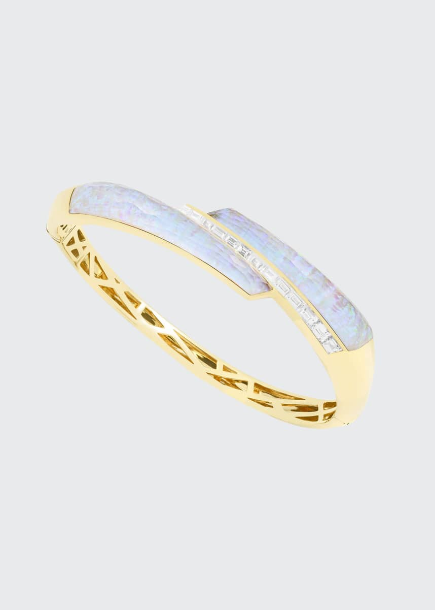 Stephen Webster CH2 Shard Bangle in 18K Yellow Gold with White Opalescent Crystal