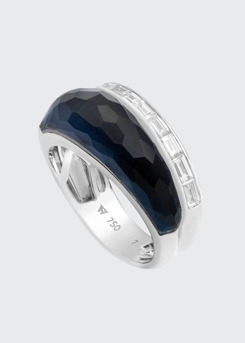 Stephen Webster CH2 Slimline Ring in 18K White Gold with Falcons Eye