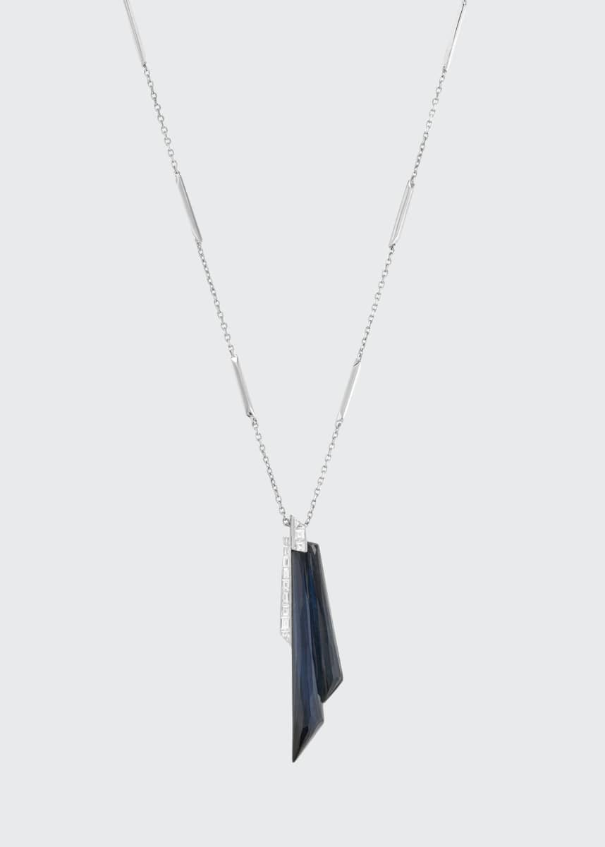 Stephen Webster CH2 Shard Pendant Necklace in 18K White Gold with Falcons Eye