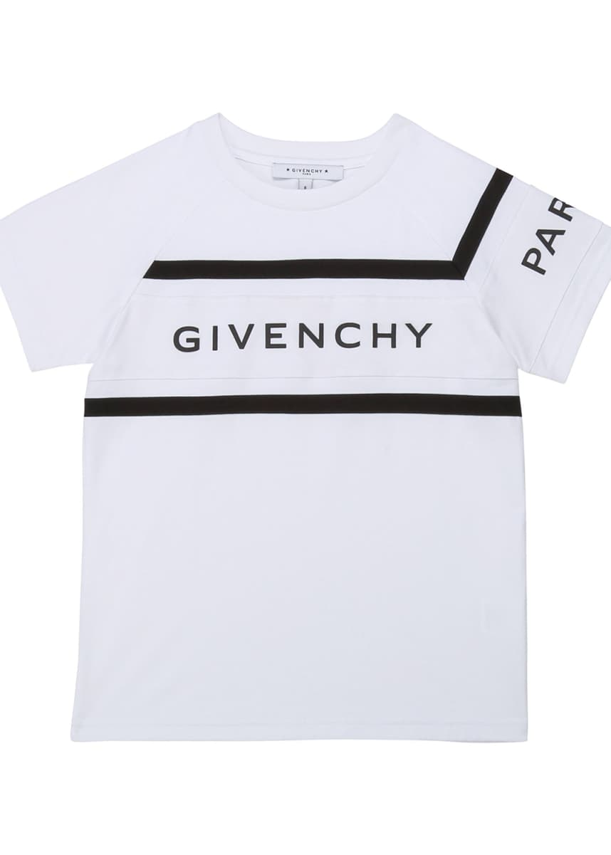 Givenchy Boy's Rubber Ink Logo T-Shirt, Size 12-14