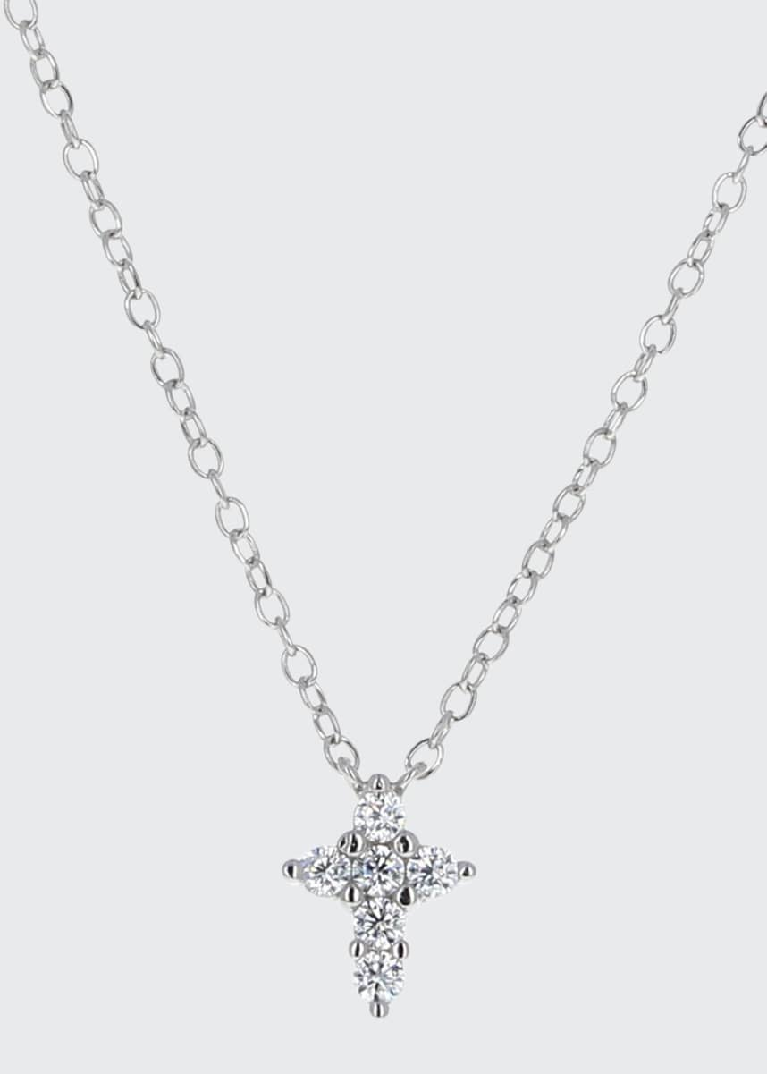 Helena Girl's Sterling CZ Cross Pendant Necklace