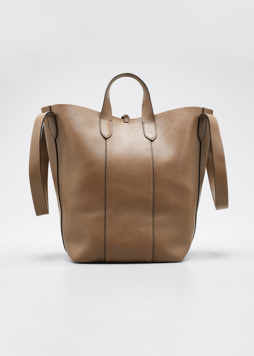Brunello Cucinelli Small Mixed Leather Convertible Strap Tote Bag
