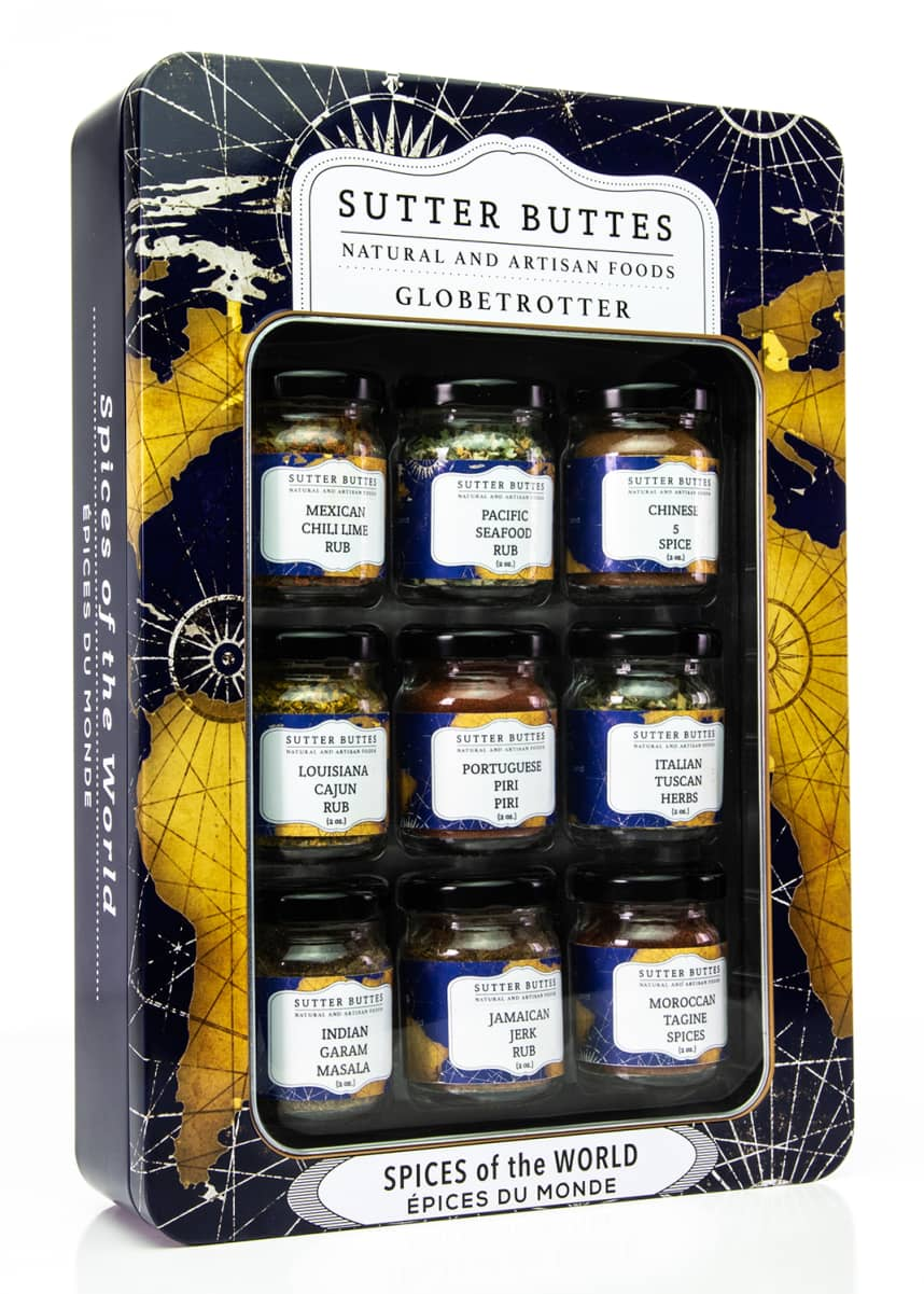 Sutter Buttes Natural and Artisan Foods Globetrotter Spice Tin