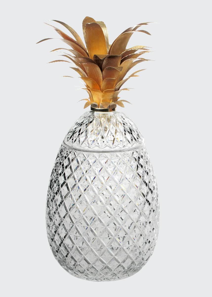 "William Yeoward Isadora 26"" Gold Pineapple Limited Edition Centerpiece"