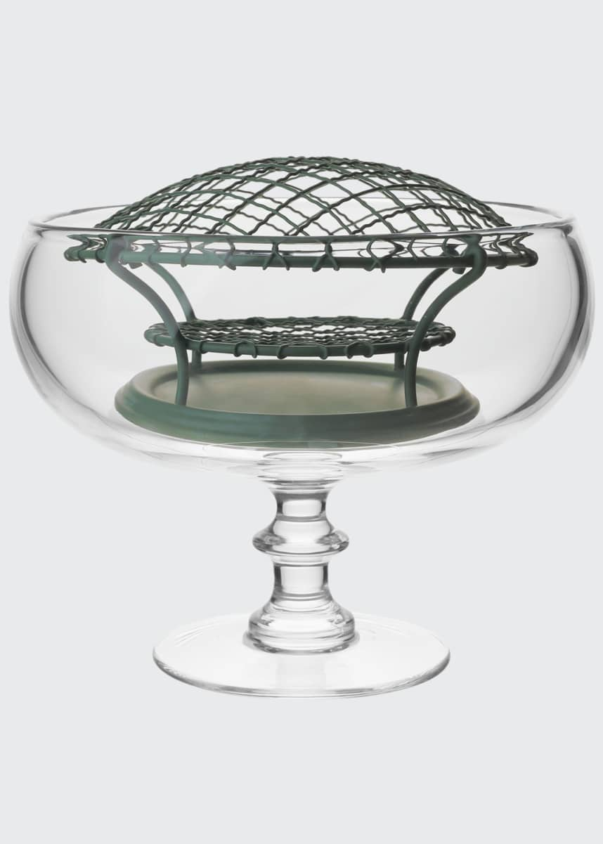 William Yeoward Classic Footed Rose Bowl & Wire