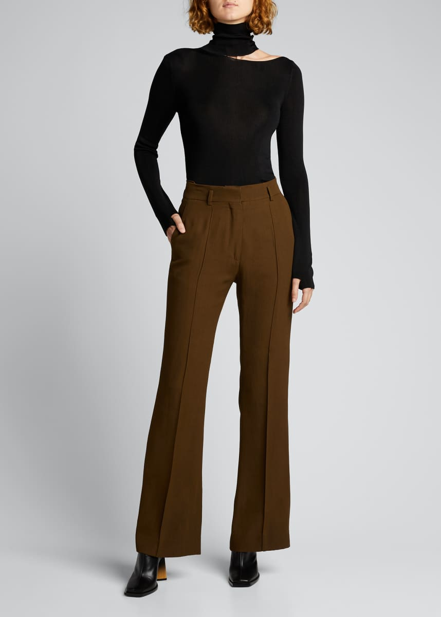 PETAR PETROV Cutout Turtleneck Top