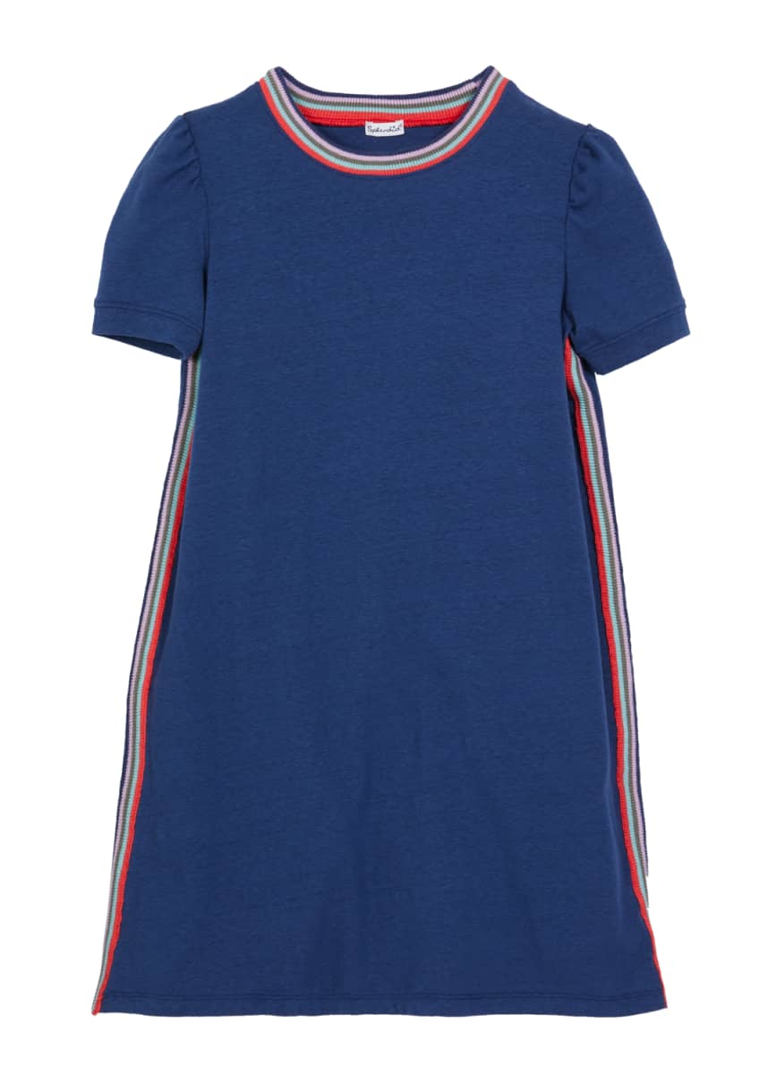 Splendid Girl's Striped-Trim Jersey Dress, Size 7-14