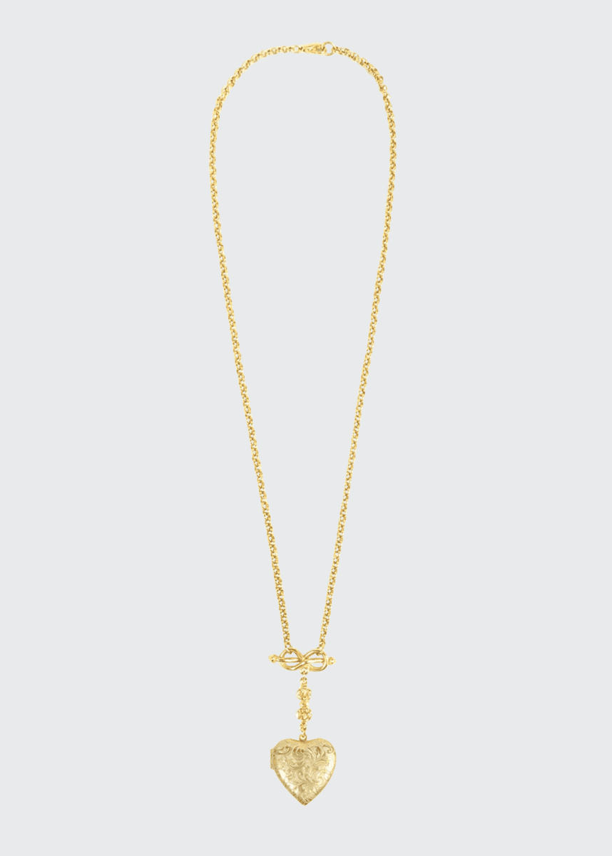 Ben-Amun Chain and Heart Locket Necklace