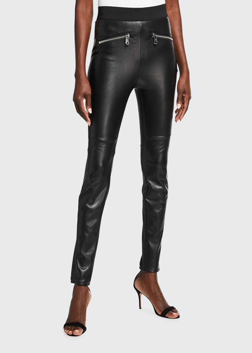cinq a sept Sonya Faux-Leather Leggings
