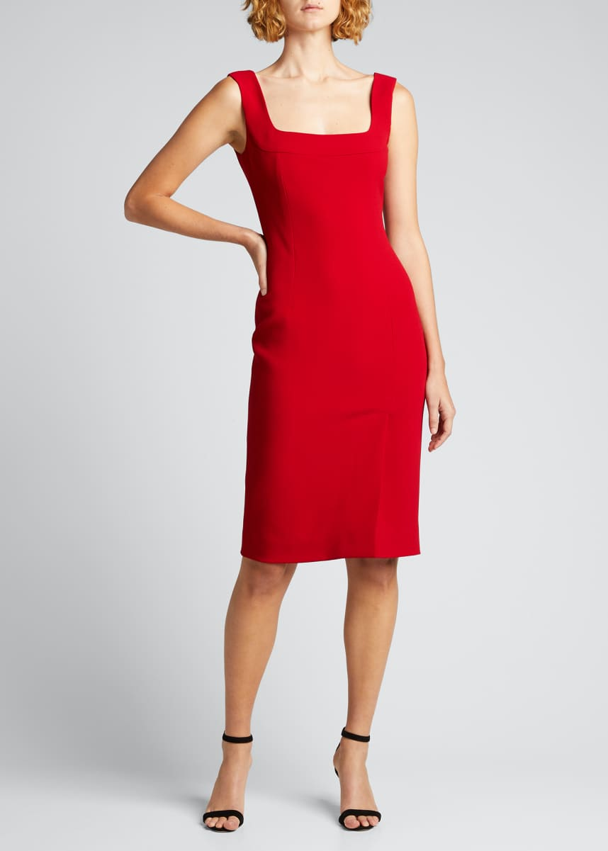 Dolce & Gabbana Square-Neck Fitted Cady Dress