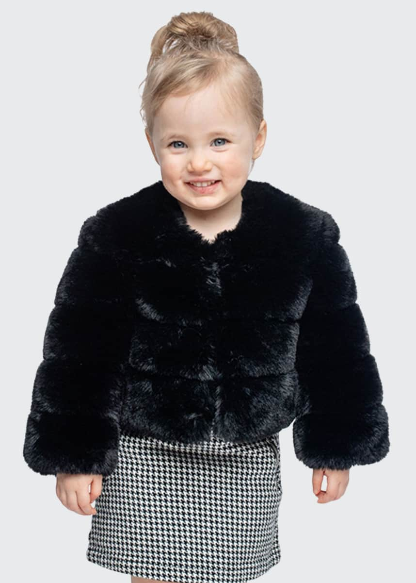 Fabulous Furs Girl's Diva in Training Faux Fur Coat, Size XXS-L
