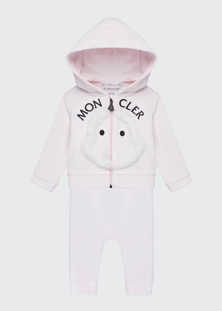 Moncler Girl's Two-Piece Velour Jogging Set, Size 12M-3