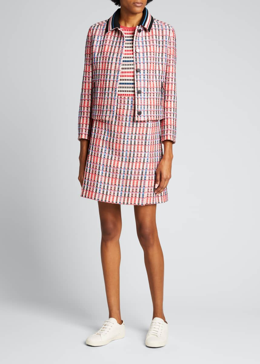 Akris punto Cropped Cotton-Blend Tweed Jacquard Jacket