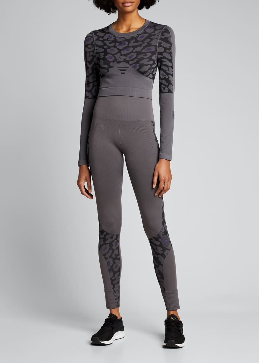 adidas by Stella McCartney True Purpose Cropped Long-Sleeve Active Top