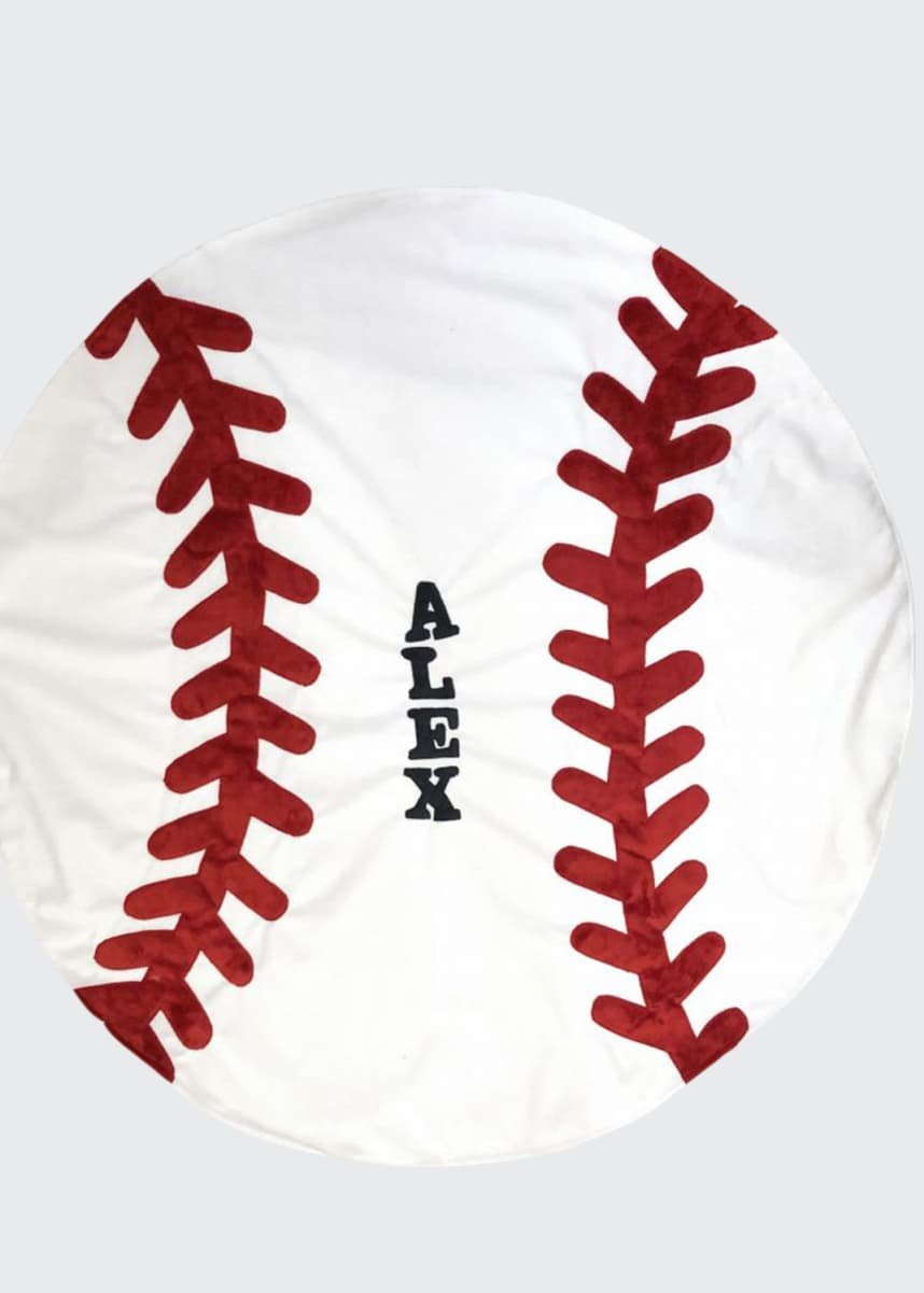 Boogie Baby Personalized Baseball Blanket
