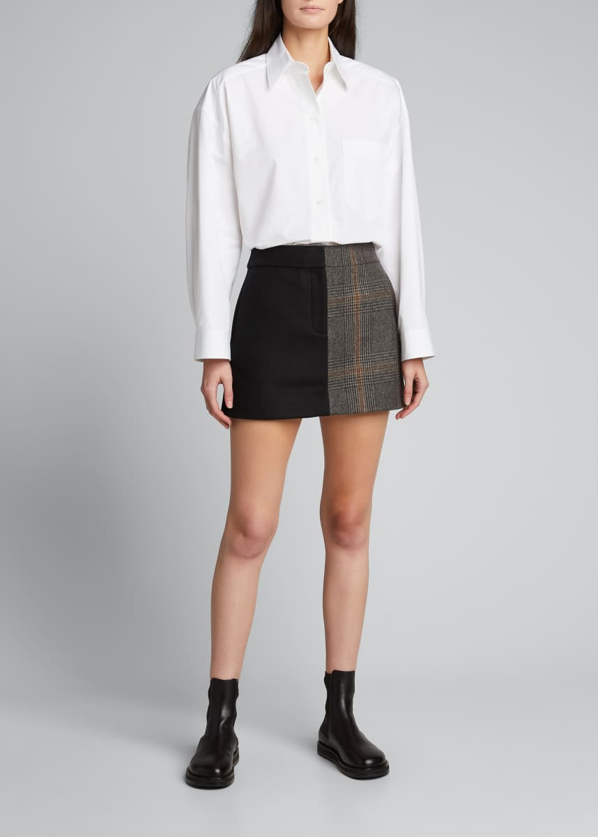 Tibi Mats Mini Trouser Skirt