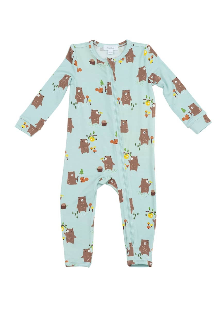 Angel Dear Boy's Baby Bears Zipper Coverall, Size 3-24 Months