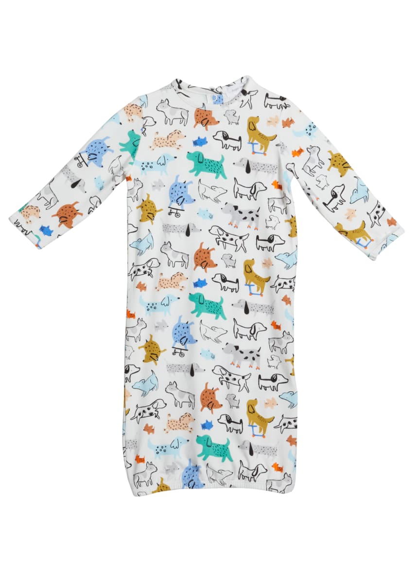 Angel Dear Boy's Cool Pups Printed Gown, Size 0-3M